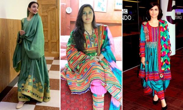 ملابس أفغانيات تقليدية